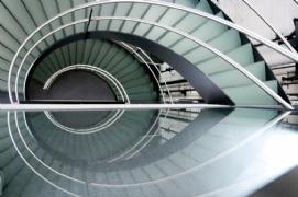 half metal staircase